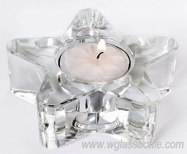Star shape Glass Candle Holder in different colors